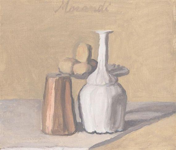 View NATURA MORTA By Giorgio Morandi; olio su tela;  Access more