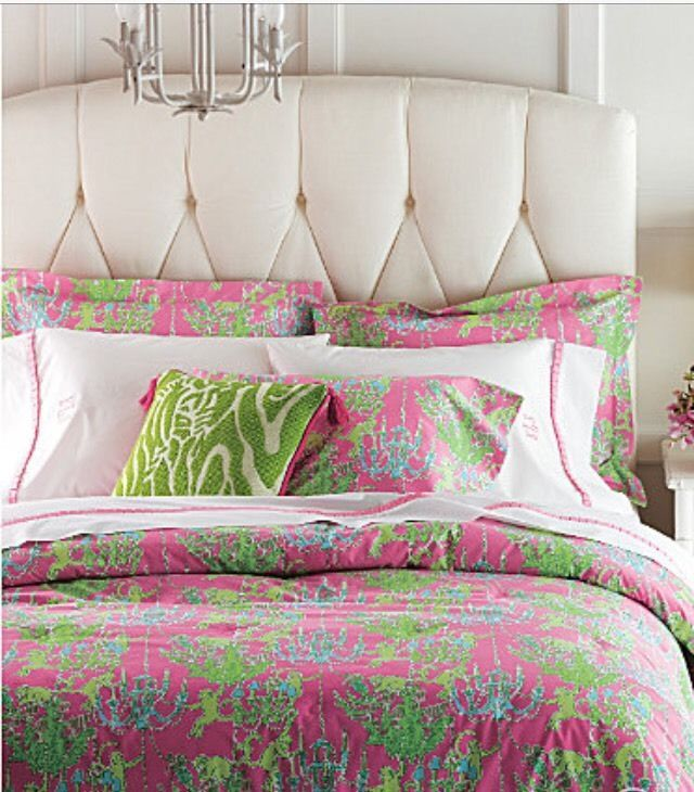 RARE Lilly Pulitzer Monkey Trouble Whimsy Chandelier Queen Size Comforter #LillyPulitzer
