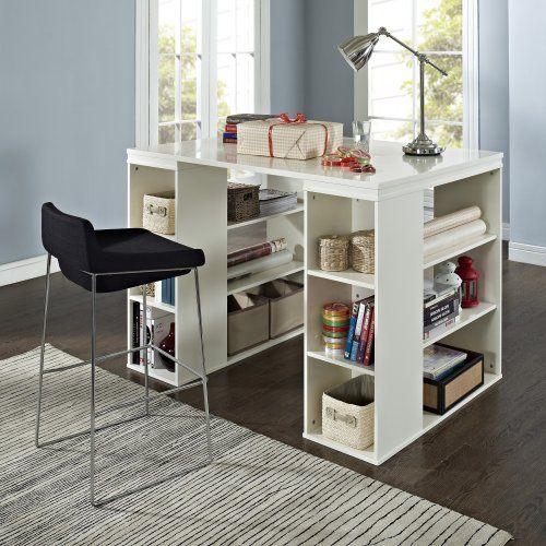 Belham Living Sullivan Counter Height Desk - Vanilla - Sewing Furniture at Hayneedle