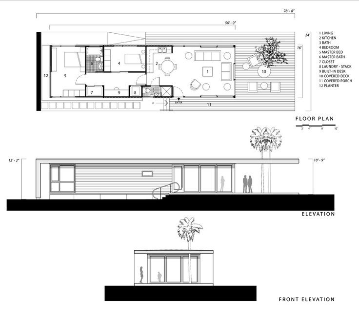Modern Shipping Container House Plan Design: 16 X 40 Shipping Container Home Floor Plan