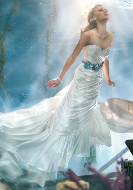 Disney fairy tale wedding dresses by alfred angelo for Fairy tale wedding dresses