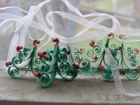 Whimsical Christmas Tree Garland: Christmas Quilling, Whimsical Christmas Trees, Christmas Decoration, Quilling Christmas, Quill Christmas, Christmas Trees Garlands