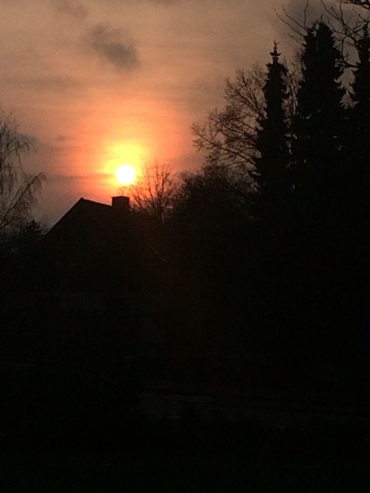 Sunset over Denmark - the Sky is on fire ❤️