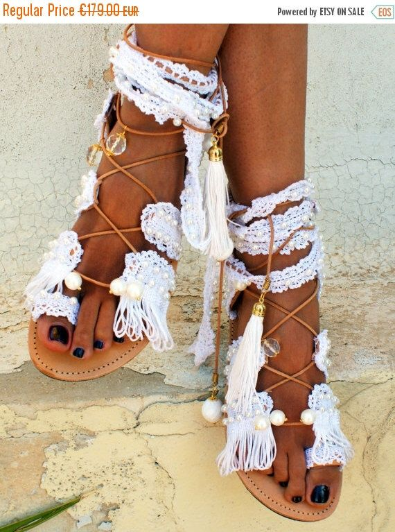 """30% SALES Wedding Sandals/ beach Bridal Sandals/ Leather Sandals/ Gladiator Sandals/ Lace up Sandals/ Handmade Sandals/ Boho Sandals """"PRINCE by magosisters on Etsy https://www.etsy.com/listing/384741056/30-sales-wedding-sandals-beach-bridal"""