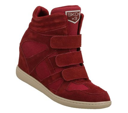 Women's SKCH Plus 3 - Raise the Bar  Achieve your lofty fashion goals with the SKECHERS SKCH Plus 3 - Raise the Bar shoe. Soft suede and woven canvas fabric upper in a three strap sporty casual hidden wedge high top sneaker with stitching accents.