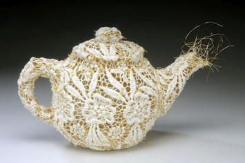 lace teapot by Donna Rhae Marder, from the Domestic Bliss series: Lace, High Tea