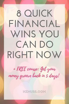 Stuck in a money rut? Break out of your money funk today!