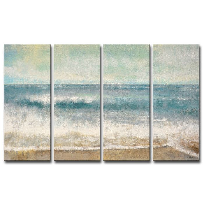 Beach Memories 4 Piece Painting Print On Wrapped Canvas Set Canvas Wall Art Set Wall Canvas Canvas Wall Art