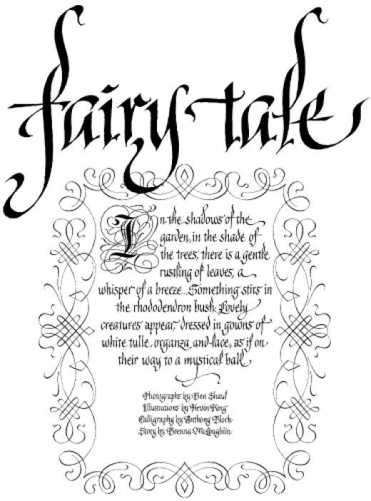 learn old english calligraphy | Planning An Old English Calligraphy Page