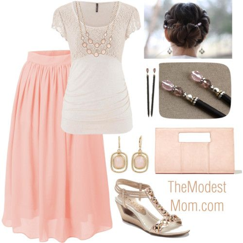 Modest Fashion Outfit idea - Date Night in Rose with Style - @ The Modest Mom