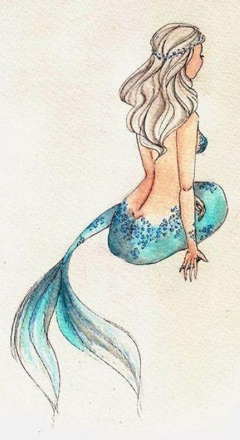 Hübsche Meerjungfrau …. – KISSENPUNKT DES KREUZ…