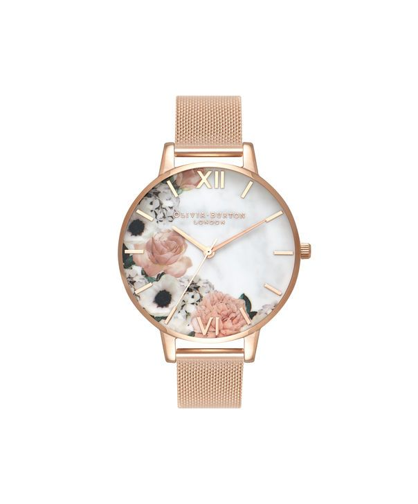 dee006f7f450 Ladies Marble Florals Rose Gold Mesh