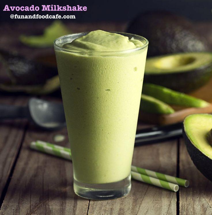 Avocado Cardamom Milkshake #summer #avocados # smoothies #shakes