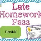 I was at a conference this summer that suggested I DO AWAY with homework passes…instead, replace them with a LATE Homework Pass.    Consider this: ...