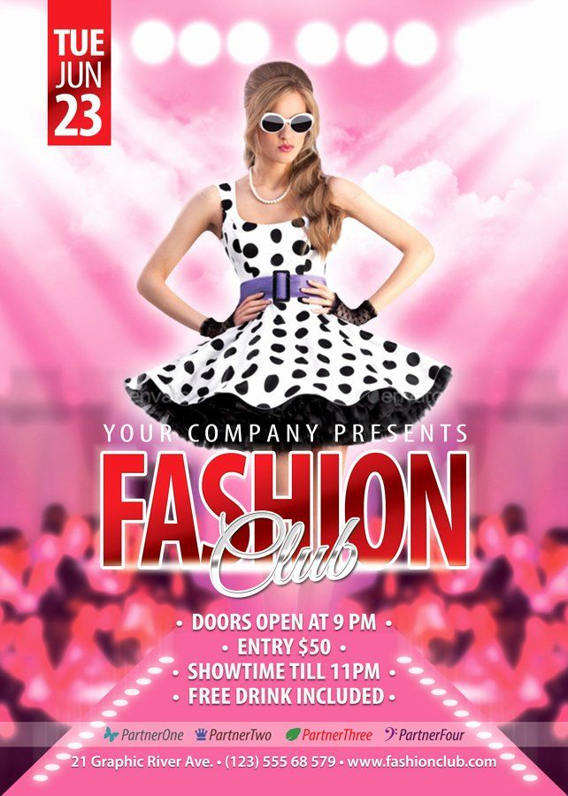 Fashion Show Flyer Template Free Awesome Free Fashion Show Flyer Template Fashion Templates Data Flyer Template Free Psd Flyer Templates Template Free