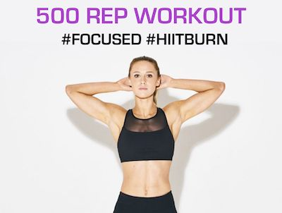 Burn Some Serious Calories with this 500 Rep Workout!!! The workout is pretty simple… Complete all reps on one exercise before moving to the next. Time how long it takes you to complete! (If you need to scale back, cut the reps down by 25-50%!) Here's the exercises: 25 Pull-Ups or Bodyweight Rows 50 Bodyweight Squats …