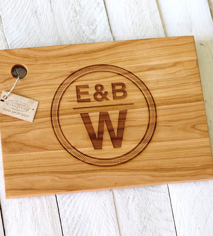 Custom Family Name Stamp Cutting Board   Use it to whip up an old family recipe. Or––if you're still ma...   Cutting Boards