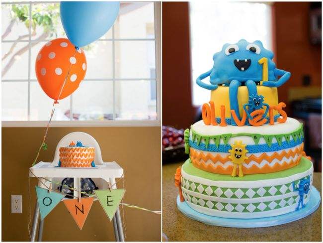 boy's first monster birthday party idea www.spaceshipsandlaserbeams.com