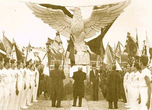 Inauguração do antigo Estádio da Luz.