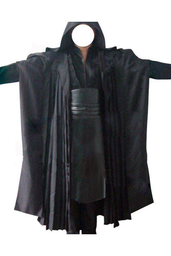 Cosplay Star Wars Jedi Sith Anakin Skywalker Kostüm Schwarzes Outfit Herren