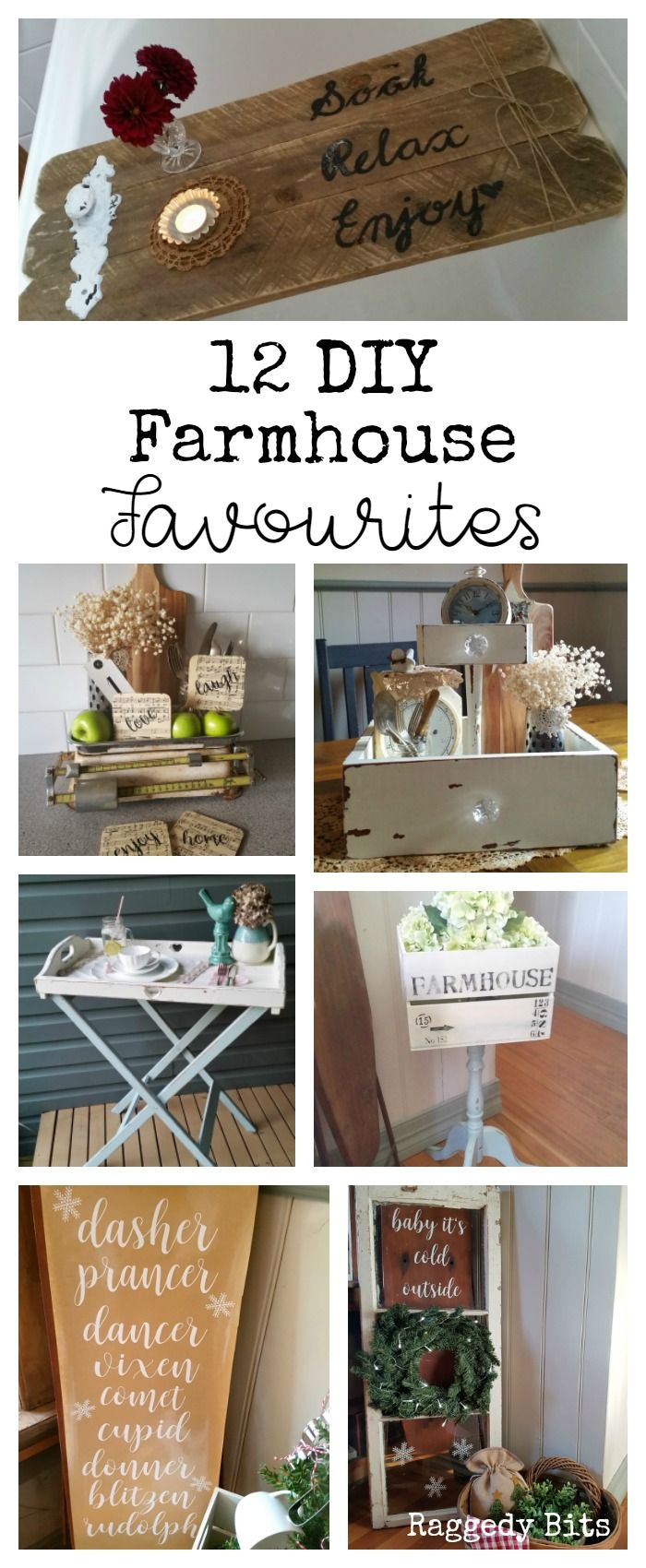 A collection of 12 DIY Farmhouse Favourites from 2016 | www.raggedy-bits.com