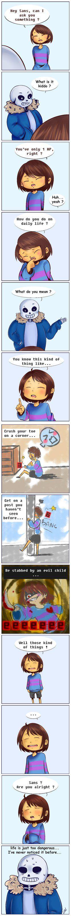 Undertale comic - Life is so dangerous by le-duo-sans-nom.deviantart.com on @DeviantArt