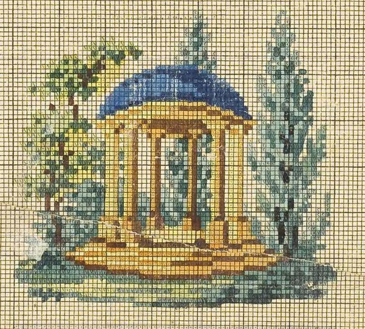 A Berlin WoolWork Temple Pattern