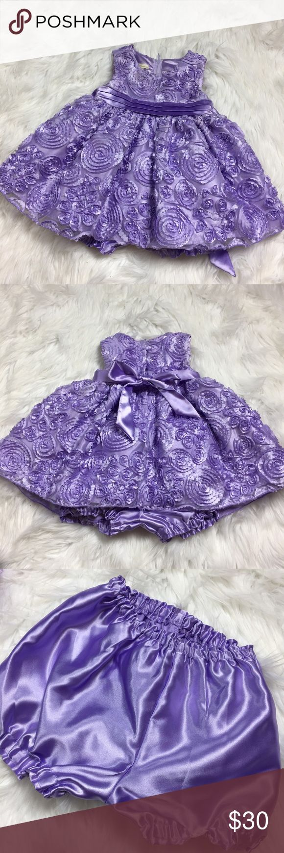 •• American Princess • Purple Baby/Toddler Dress Beautifully, Detailed Lavender Purple, Spring Dress by American Princess (worn once). Dress comes from a pet-free, smoke-free home. Color - Light Purple  Size: 12 months  Please inspect all pictures prior to purchase and message me with any questions you have. American Princess Dresses Formal