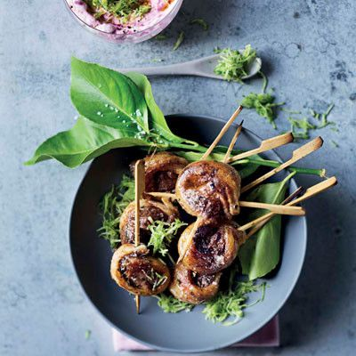 Taste Mag | Rosemary lamb lollipops with beetroot tzatziki @ http://taste.co.za/recipes/rosemary-lamb-lollipops-with-beetroot-tzatziki/