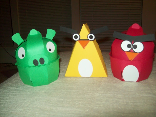 diy angry birds boxes