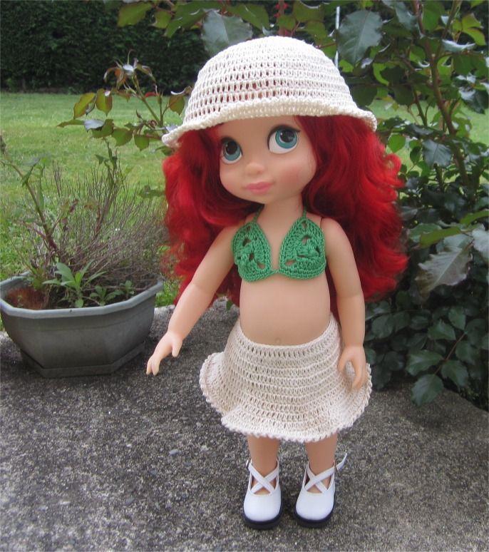 37- FICHE PATRON CROCHET Maillot de bain pour poupée Animator : Jeux, jouets par atelier-crochet
