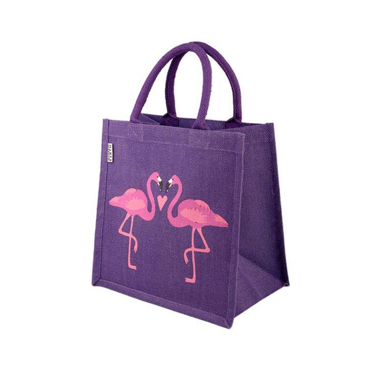 Nye shopper tasker med sommerfugle eller flamingoer. Kr. 79,-