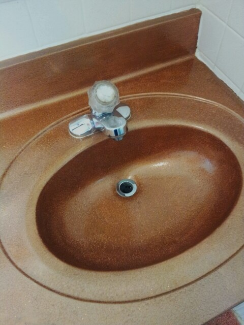 Hammered Copper Finish By Rustoleum On An Old White Sink