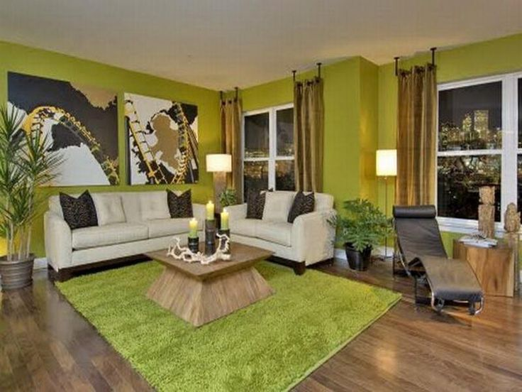 Breathtaking Black And Green Living Room Decor Ideas Design With Artistic Painting On Wall Glass Windows Brown Curtains White Sofa