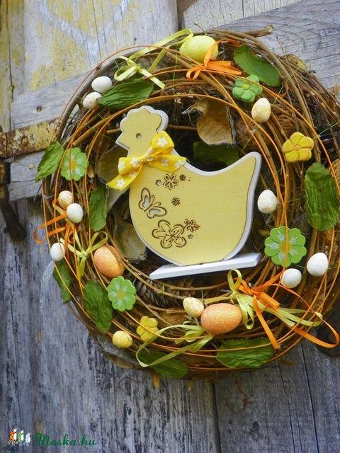 Húsvéti,tavaszi  ajtódísz,kopogtató,.koszorú (galamb70) - Meska.hu