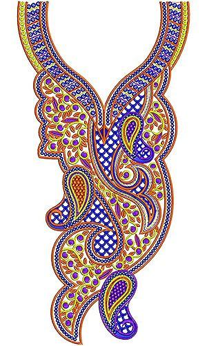 Designer Beige Spun Kurti Embroidery Design