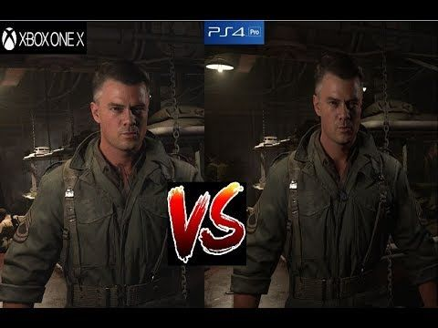 Call Of Duty WW2 - XBOX ONE X vs PS4 PRO Graphics Comparison #xboxone #ps4 #games #gaming #videogames