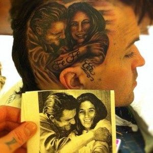 tat of Johnny Cash and wife .