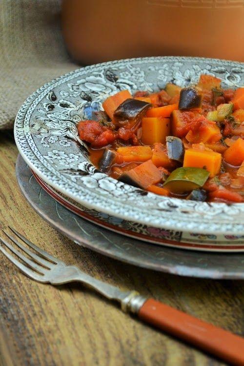 Smoked vegetable stew. 150 cal