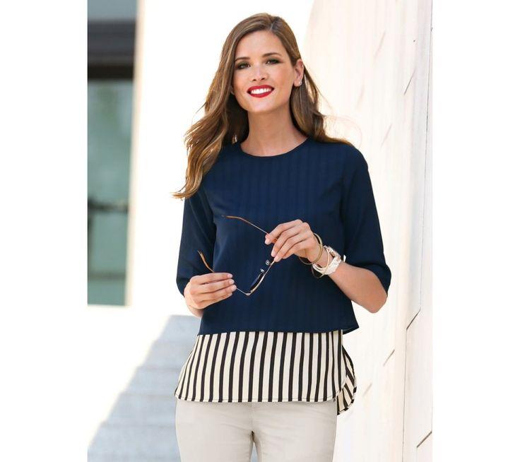 Blúzka s efektom 2 v 1 | modino.sk #ModinoSK #modino_sk #modino_style #style #fashion #bestseller #blouse