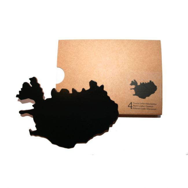 Izland üveg tartályok fekete 4 darab