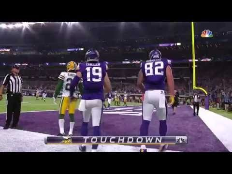 Sam Bradford Throws 1st TD as a Minnesota Viking! | Packers vs. Vikings | NFL - YouTube
