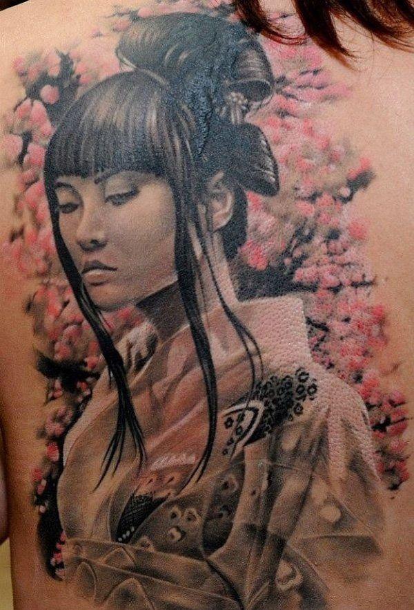 geisha tattoo - 50  Beautiful Geisha Tattoos  <3 !