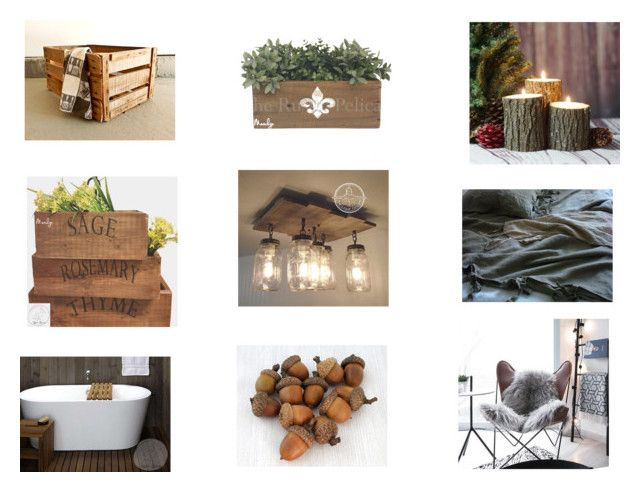 """Rustic Home Decor"" by gothicvamperstein on Polyvore featuring interior, interiors, interior design, home, home decor, interior decorating, rustic, etsy and homedecor"