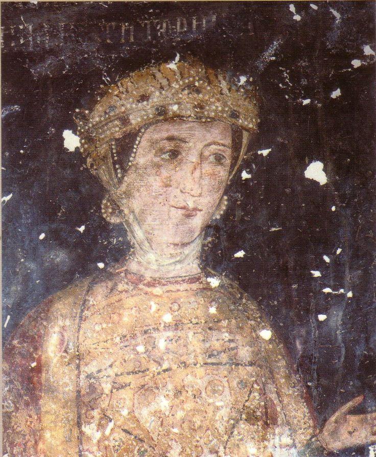 Dessislava (the Wife of Sebastocrator Kaloyan) - detail - 1259 - Boyana Church