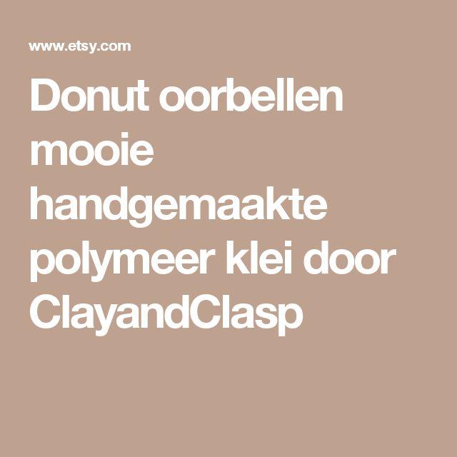 Donut oorbellen mooie handgemaakte polymeer klei door ClayandClasp
