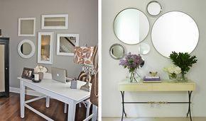 Veja como ter uma decoração diferente com vários tipos de espelhos.