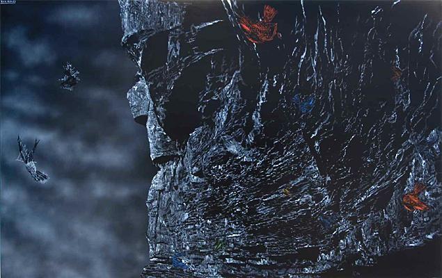 Shane Cotton, Takarangi, 2007. Acrylic on linen. Collection of Christchurch Art Gallery Te Puna o Waiwhetu, purchased 2007.