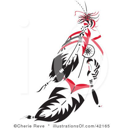 Black And White Cartoon Feather Royalty Free Rf