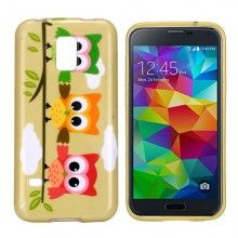 Forro Gel Samsung Galaxy S5 mini Design Animales Buho 18 $ 14.500,00